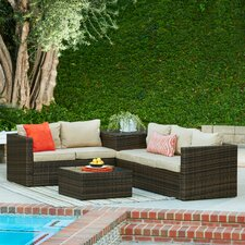 Sale Armbruster 4 Piece Sectional Seating Group with Cushions
