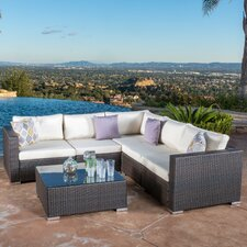 Murillo 6 Piece Sectional Seating Group with Cushion