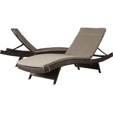 No Copoun Ferrara Chaise Lounge with Cushion (Set of 2)