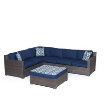 Abraham 5 Piece Lounge Seating Group with Cushion
