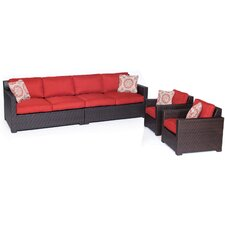 Abraham 4 Piece Deep Seating Group with Cushion