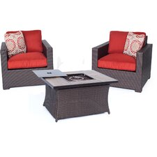 Abraham 3 Piece Deep Seating Group with Cushion