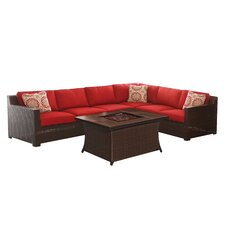 Abraham 5 Piece Deep Seating Group with Cushions