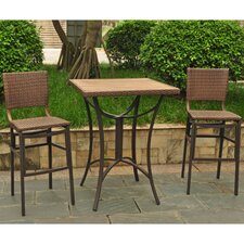Katzer Wicker Resin 3 Piece Bar Set