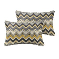 Pursley Indoor/Outdoor Lumbar Pillow (Set of 2)