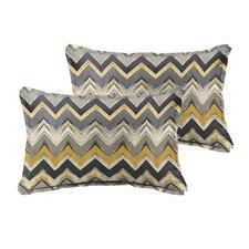 Pursley Indoor/Outdoor Lumbar Pillow (Set of 2)