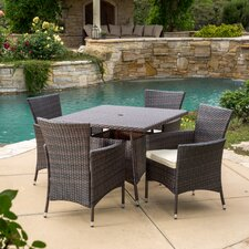 Rolle 5 Piece Dining Set with Cushions