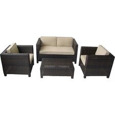 Keesler 4 Piece Deep Seating Group with Cushions
