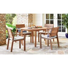 Comparison Backus 5 Piece Dining Set with Cushions