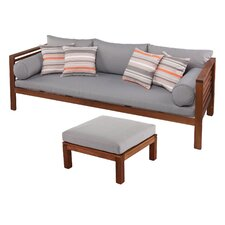 Critchlow 2 Piece Outdoor Deep Seating Group with Cushions