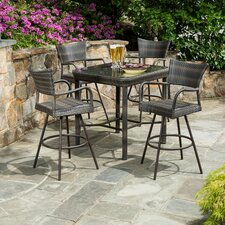 Melitta All Weather Wicker 5 Piece Bar Set
