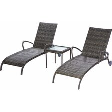Melitta All Weather Wicker Double Chaise Lounge