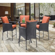 Best #1 Billington 5 Piece Dining Set with Cushions