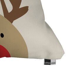 Mouton Reindeer Indoor/Outdoor Throw Pillow