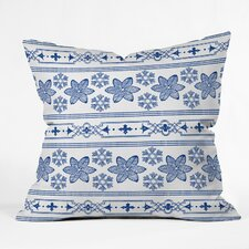 Almon Deep Blue Snowdrift Indoor/Outdoor Throw Pillow