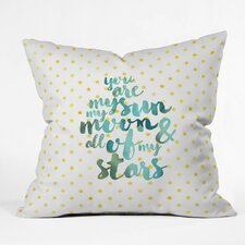 Diez You Are My Sun My Moon and All of My Stars Outdoor Throw Pillow