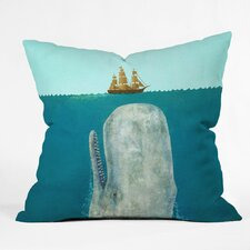 Terry Fan Whale Outdoor Throw Pillow