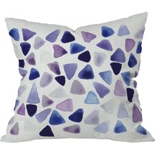Fessler Watercolor Triangles Outdoor Throw Pillow