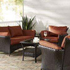 Billington 4 Piece Lounge Seating Group with Cushion