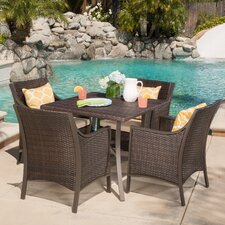 Liggins 5 Piece Dining Set with Cushion
