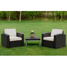 Bargain Loggins 3 Piece 2 Person Seating Group