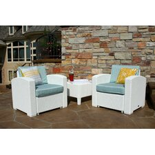 Loggins 3 Piece 2 Person Seating Group with Cushion