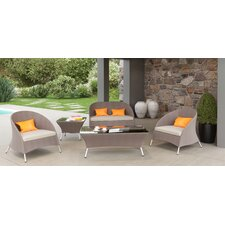 Savings Markowitz 5 Piece Deep Seating Group with Cushion