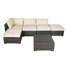 Lara 6 Piece Sectional Seating Group with Cushions
