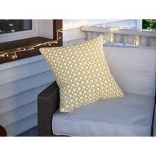 Benevides Little Hearts on Gold Outdoor Throw Pillow