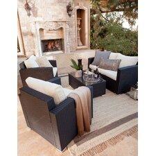 Carlo 4 Piece Deep Seating Group with Cushion