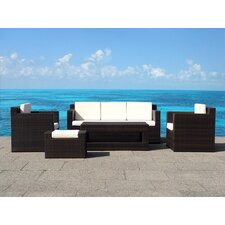 Baranowski 5 Piece Deep Seating Group with Cushions