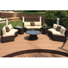 Kendall 6 Piece Bench Seating Group with Cushion