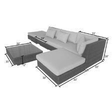 No Copoun Kendall 6 Piece Seating Group with Cushion