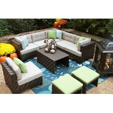 Kiana 7 Piece Lounge Seating Group with Cushions
