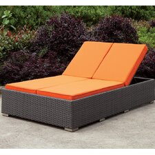 Best  Kedzie Double Chaise Lounge with Cushion