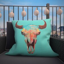 Turquoise Sky Outdoor Throw Pillow