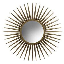 Round Old gold Starburst Wall Mirror