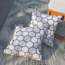 Duran Honey Comb Outdoor Throw Pillow