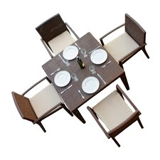 Comparison Hicklin 5 Piece Dining Set with Cushions