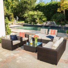 Dickerson Wicker 9 Piece Seating Group