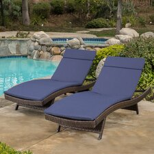 Morello Chaise Lounge with Cushion (Set of 2)