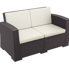 Vedder Resin Patio Loveseat with Cushion
