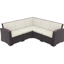 Comparison Vedder 4 Piece Sectional Seating Group with Cushions