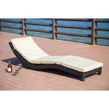 Vanhouten Wicker Chaise Lounge with Cushion