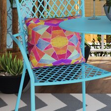 Gerlach Colorful Mosaic Sun Indoor/outdoor Throw Pillow