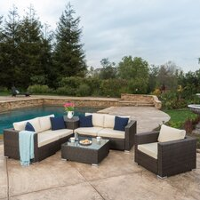 Dickerson 7 Piece Outdoor Sectional Seating Group Set