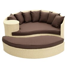 Greening Outdoor Daybed with Ottoman & Cushion