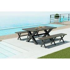 Hershman 3 Piece Dining Set