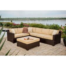 Abraham 5 Piece Lounge Seating Group with Cushions