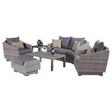 Alfonso 6 Piece Love and Club Deep Seating Group with Cushion